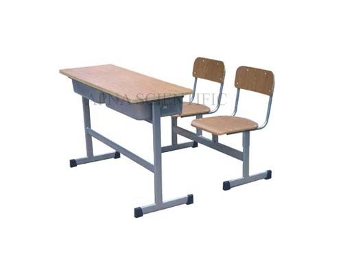 Chairs Cum Desk Double Seating